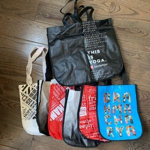 Set Seven Limited Edition Lululemon Reusable Bags